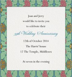 """Art nouveau collection . """"Of Berries & Leaves"""" is a Wine Tasting Card for Online Invitations with colorful grapes."""
