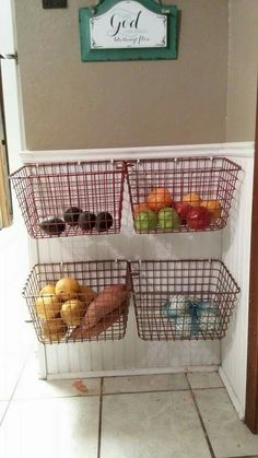 Trendy Home Hacks Decor Baskets Home Decor Kitchen, Diy Kitchen, Kitchen Storage, Diy Home Decor, Apartment Kitchen, Fridge Organization, Home Office Organization, Organization Hacks, Organizing Ideas