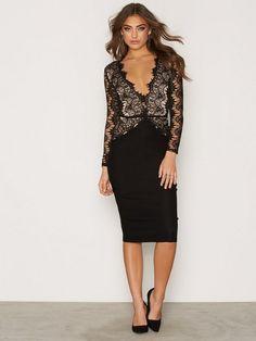 Lace Cutout Back Midi Dress