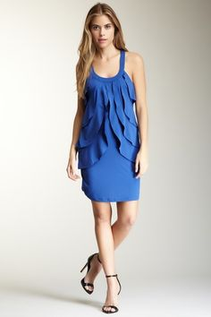 Solid Ruffle Front Dress by Papillon on @HauteLook