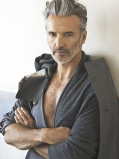 gray hair styles for men