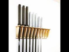 How to make a vertical hanging Barbell rack Home Made Gym, Diy Home Gym, Gym Room At Home, Homemade Gym Equipment, Diy Gym Equipment, No Equipment Workout, Fitness Equipment, Home Gym Garage, Basement Gym