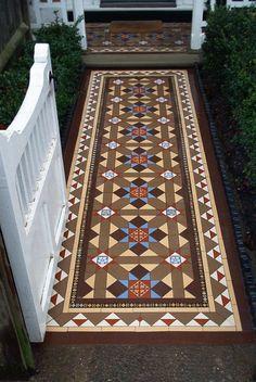 Multicoloured Victorian mosaic path