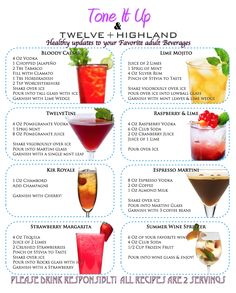 Healthy drinks!