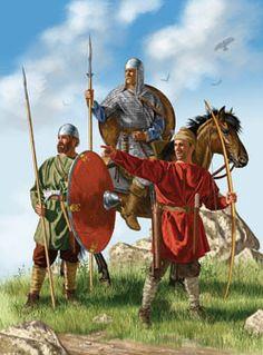 Frankish warriors