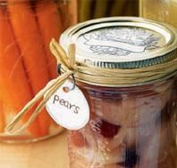 canned cinnamon gingered pears // clean food // power foods
