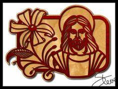 Jesus scrollsaw pattern