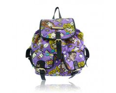 Anna Smith Purple Pop Art Print Rucksack Bag.