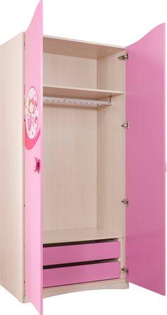 Cilek SL Princess Kleiderschrank II mit LED - Kleiderstange        - Kostenloser Versand innerhalb Deutschlands! -      Im entzückenden rosafarbenen Gewand kann hier die Kleidung aufbewahrt werden. Eine kleine Fee scheint mit... #kinder #kinderzimmer #kleiderschrank #cilek
