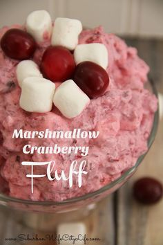 Marshmallow Cranberry Fluff Recipe is the perfect sweet side at Thanksgiving dinner. : Marshmallow Cranberry Fluff Recipe is the perfect sweet side at Thanksgiving dinner. Yummy Treats, Sweet Treats, Yummy Food, Easy Desserts, Dessert Recipes, Yummy Recipes, Amazing Recipes, Dessert Ideas, Cranberry Fluff