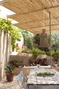 nani marquina / can joan des cocons, ibiza Cozy Backyard, Backyard Garden Design, Luxury Mediterranean Homes, Hotel Ibiza, Patio Deck Designs, Rustic Pergola, Style Rustique, Concrete Patios, Outdoor Restaurant