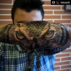 Tatuaje búho realismo #tattoo #owl #realistic