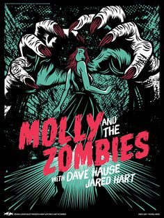 Molly and the Zombies Three Color Printed Poster