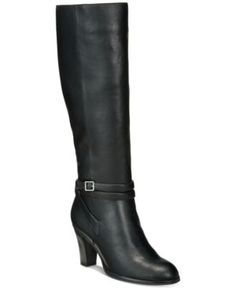 Giani Bernini Beckyy Wide-Calf Dress Boots, Created for Macy's - Black 5.5M