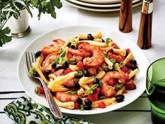 Shrimp, Sausage, and Black Bean Pasta Recipe   Add a little Cajun flair to your pasta dinner this week. We've added shrimpand Andouille sausage to our Slow-Cooker Black beans to mix textures and flavors to this pasta dish. We like the fun, twisty shape of the casarecce pasta because it captures the sauce well, but any short pasta will work in this recipe. You can put the black beans in the slow cooker during the day, and the rest of the dish comes together in under 30 minutes for a quick…