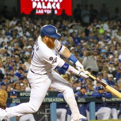 The Los Angeles Dodgers defeated the Washington Nationals, 6-0, at Dodger Stadium on Thursday, October 3, 2019. The Dodgers held the Nationals to just two-hits during the game. Powered by home runs from Gavin Lux and Joc Pederson, the Dodgers were able to keep home-field advantage through this series.  Baseball Playoffs, Baseball Season, Queen's Coronation, Dodger Stadium, Washington Nationals, Game 1, Los Angeles Dodgers, Thursday, October