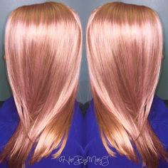 today we collect really different and stylish ideas for you ladies, rose gold hair colors for a new experience! Hair Color And Cut, Haircut And Color, Blond Rose, Rose Gold Hair Blonde, Cabelo Rose Gold, Gold Hair Colors, Hair Colours, Rose Hair, Pastel Hair