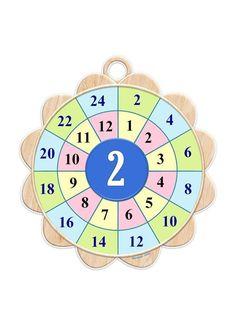multiplication worksheets wheels for kıds Toddler Color Learning, Learning Colors, Multiplication Worksheets, Maths Puzzles, Multiplication Tables, Math For Kids, Diy For Kids, Math Tables, Math Blocks