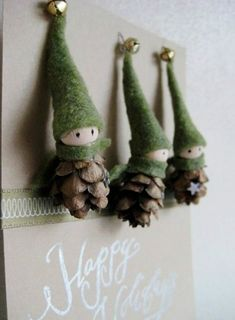 DIY pine cone crafts and decorations for Christmas
