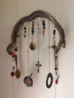 Bohemian Driftwood Garden Art by RiverRatCrafts on Etsy, $30.00