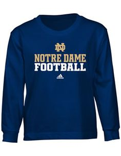 University of Notre Dame Football Youth Long Sleeve T-shirt