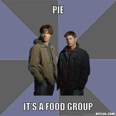 It's a food group. #Supernatural #Meme