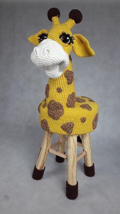 Krzesło dla dziecka żyrafa. Handmade. Chair for children giraffe.