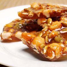 Pepitas and Macadamia Nut Brittle