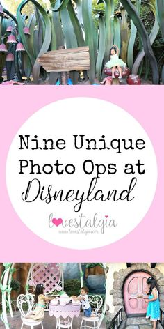 A post about nine unique photo ops at Disneyland for beautiful memories on your next Disneyland vacation or trip. There are so many great photo locations!