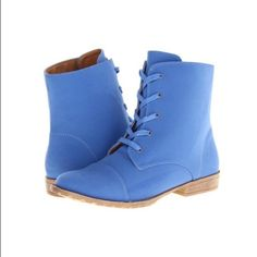 HOST PICK Blue Suede Lace-Up Combat Boots Sz10 HOST PICKNEW!!! Blue Suede Lace-Up Combat Boots Sz.10 - MUST HAVES!!!! Brand New - In Box! Shoes Combat & Moto Boots