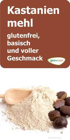 Chestnut flour – gluten free, basic and full of flavor gesunex - Vegetarisch Chocolate Malt, Eat Smart, Bread Baking, Bread Recipes, Low Carb, Gluten Free, Cooking, Healthy, Desserts