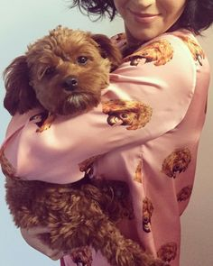 Katy Perry shows off her custom printed PJs with her puppy on April 7, 2015. - Cosmopolitan.com