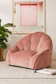 Urban Outfitters Cosette Velvet Lounge Chair #ChairForBedroom