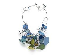 Oculus Necklace, Paper Jewelry, Tia Kramer