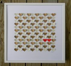 Alternative Wedding Guest Book 3d Hearts by PrettyProposal on Etsy