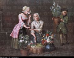"1725 - 1765. 'Vier Jahreszeiten - Frühling' (four seasons - spring"" by Johann Christian Fiedler (1697 - 1765). State Museum of Hesse, Darmstadt, Germany"