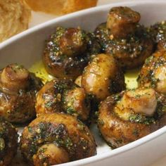 Delicious Roasted Garlic Mushrooms | Eat and Exercise