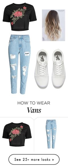 """#denim"" by yusk8 on Polyvore featuring H&M and Vans"