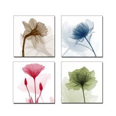Decorating with Multi Panel Wall Art  I love this art flowers.