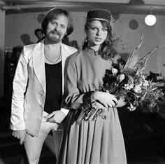 Elżbieta Dmoch i Janusz Kruk, ślub (1973) Just Married, Alter, Poland, All Things, Wedding Photos, Celebs, Memories, Vintage, Stars