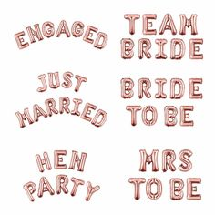 Rose Gold Hen Party Balloon Bunting, Hen Party Backdrop, Hen Party Decorations - Team Bride Bridal S Hen Party Balloons, Hen Party Decorations, Happy Birthday Balloon Banner, Bridal Shower Backdrop, Letter Balloons, Team Bride, Backdrops For Parties, Wedding Party Favors, Party Supplies