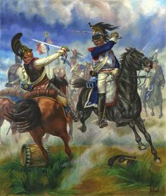 The clash of the French and Rusian cuirassiers at the Battle of Borodino. American Revolutionary War, American War, American History, American Soldiers, Military Diorama, Military Art, Military History, Le Colonel Chabert, Battle Of Borodino