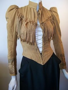 Steampunk with a little Elizabethan and a little Western. You are in the right place about Bodice designs Here we offer you the most beautiful pictures about t Victorian Blouse, Edwardian Dress, Victorian Fashion, Vintage Fashion, 1960s Fashion, Steampunk Jacket, Steampunk Costume, Steampunk Fashion, Wild West Costumes