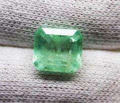 3.27 Ct Fine Natural Emerald Octagon  Russian UnTreated Loose GemStone #RareGemIN