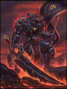 Sir Dextros, Furnace of the Alliance by Todor Hristov : ImaginaryAzeroth Fantasy Character Design, Character Art, World Of Warcraft Wallpaper, Death Knight, Knight Armor, Warcraft Art, Dragon Knight, Fantasy Warrior, Fantasy Races