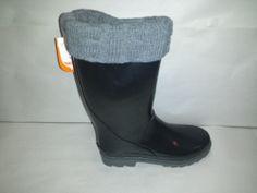 Sporto Nova Waterproof Rubber Womens Rain Boots Size 10M Black Weatherproof Tall