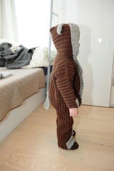Bear suit crochet pattern by OptimisticByNature on Etsy, $5.50