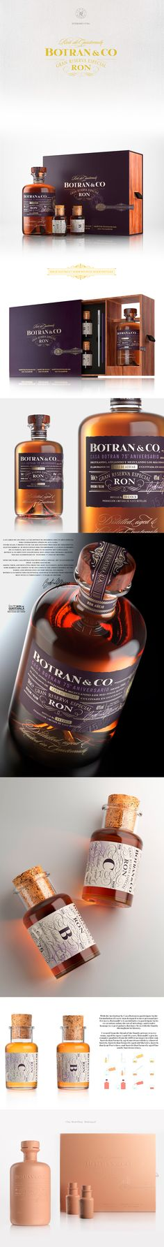 CGI product visualisation and animation film for Botran & Co 75th Anniversary Edition Rum