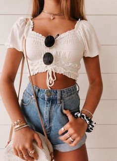 - Moda kıyafetler - – Strandoutfit – Quelle v - Beach Outfit Plus Size, Beach Outfit For Women, Summer Outfits Women 30s, Summer Outfit For Teen Girls, Outfit Beach, Teenage Outfits, Teen Fashion Outfits, Mode Outfits, Look Fashion