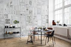 Rebel Walls - Curious - Bleached Oddities Mural - Paper Room
